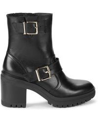 Kenneth Cole Women's Ronnie Moto Boots - Black - Size 5