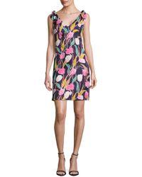 Donna Morgan - Floral A-line Dress - Lyst