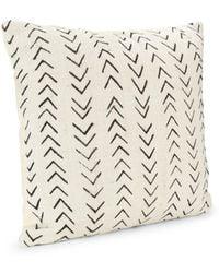 Saks Fifth Avenue Handspun African Mud Cloth Throw Pillow - White