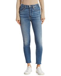 RE/DONE Comfort Stretch High-rise Skinny Ankle Jeans - Blue