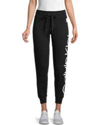 Calvin Klein Women's Jumbo Logo Sweatpants - Black - Size Xl
