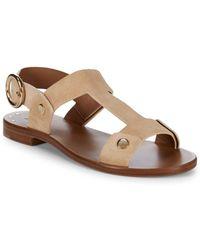 Frye - Halle Rivet Leather Slingback Sandals - Lyst
