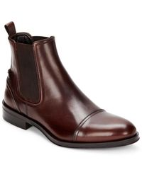 Roberto Cavalli Leather Chelsea Boots - Brown