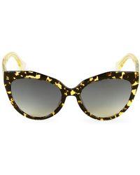 Balenciaga 52mm Tortoiseshell Cateye Sunglasses - Brown