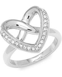 Swarovski - Crystal Heart Ring - Lyst