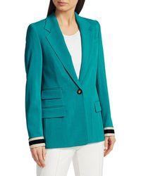 ESCADA Begaskan Stretch-wool Jacket - Blue