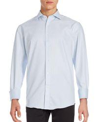 Bugatchi - Tonal Jaquared Shirt - Lyst