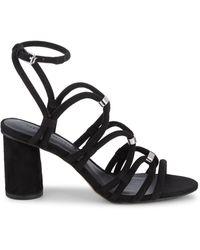 Rebecca Minkoff Apolline Suede Strappy Sandals - Black