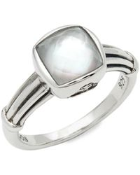 Lagos Women's Venus Sterling Silver & White Mother-of-pearl Doublet Ring - Size 7 - Metallic