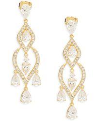 Adriana Orsini - Crystal Dangle Earrings - Lyst