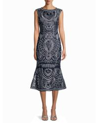 JS Collections Soutache-detailed Metallic Dress - Grey