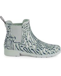 HUNTER Refined Waterproof Chelsea Rain Boots - Blue