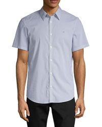 Calvin Klein Printed Short-sleeve Shirt - Blue