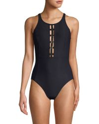 Miraclesuit Open-back One-piece Swimsuit - Black
