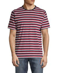 Saks Fifth Avenue Striped T-shirt - Red