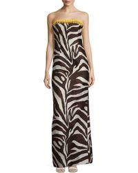 ESCADA - Gabie Zebra Printed Silk Dress - Lyst
