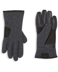 UGG Smart Mixed-media Gloves - Black
