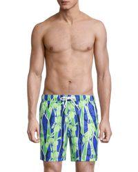 Original Penguin Tropical Swim Trunks - Blue