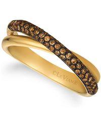 Le Vian - 14k Honey Gold & Daimonds Crisscorss Chocolatier Ring - Lyst