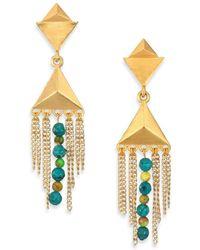Stephanie Kantis - Dimension Green Turquoise Howlite & Blue Turquoise Howlite Drop Earrings - Lyst