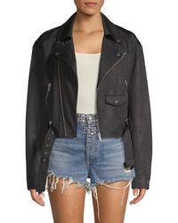 The Kooples Women's Faux Leather Moto Jacket - Black - Size 2 (m)