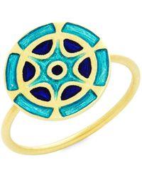 Amrapali 18k Yellow Gold Ring - Metallic