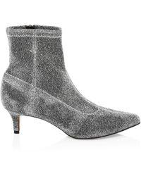 Rebecca Minkoff Sayres Glitter Sock Boots - Grey