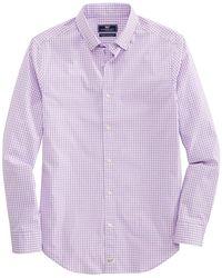 Vineyard Vines Blank Gingham Shirt - Purple
