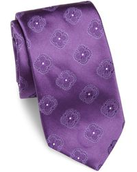 Ike Behar - Floral Pattern Silk Tie - Lyst