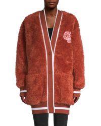Off-White c/o Virgil Abloh Faux Fur Coat - Brown