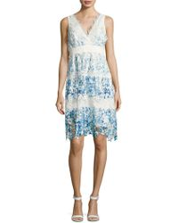 Elie Tahari - Crocheted Lace Dress - Lyst