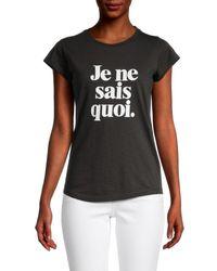 Zadig & Voltaire Women's Skinny Je Ne Sais Quoi T-shirt - Charcoal - Size M - Black