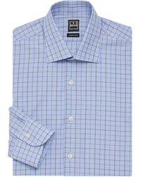 Ike Behar Plaid Dress Shirt - Blue