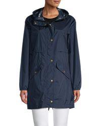 Barbour Women's Waterproof Hooded Parka - Navy - Size 8 - Blue