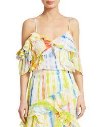 Tanya Taylor Tavia Cold Shoulder Tie-dye Top - Multicolor