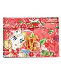 Moschino Women's Fantasy Graphic Leather Card Case - Pink Multi
