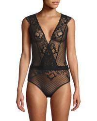 Addiction Nouvelle Lingerie Lace Bodysuit - Black