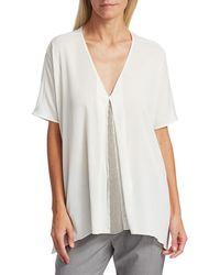 Fabiana Filippi Brilliant Inset Short Sleeve Tunic - White