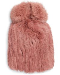 Annabelle New York - Dyed Rabbit Fur Knit Beanie - Lyst