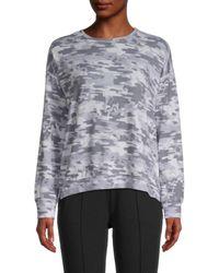 Workshop Dropped-shoulder Camo Sweatshirt - Grey