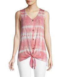 C&C California Tie-dye Sleeveless Top - Pink