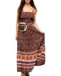 Free People Tangier Babydoll Maxi Dress - Multicolour