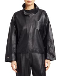 3.1 Phillip Lim Leather Zippered Blouse - Black