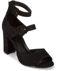 Saks Fifth Avenue - Zip Leather Slingback Court Shoes - Lyst