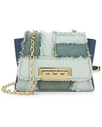 Zac Zac Posen - Eartha Fringed Leather Mini Crossbody Bag - Lyst
