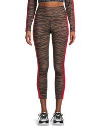 Pam & Gela Women's Tiger-print Cropped Leggings - Tiger - Size Xs - Multicolour