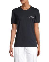 Dolce & Gabbana Women's Logo T-shirt - Navy - Size 36 (2) - Blue