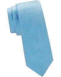 Ike Behar Microdot Silk Tie - Blue
