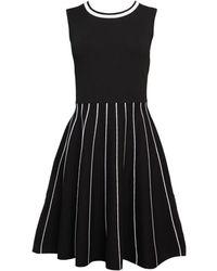 Saks Fifth Avenue Tipped A-line Dress - Black
