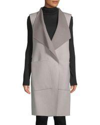 SOIA & KYO - Turndown Sleeveless Coat - Lyst